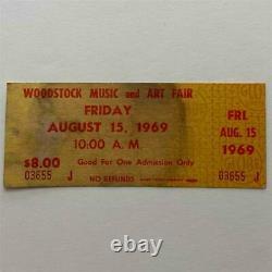 Uncommon Friday Ticket, 1969 Woodstock Music Festival Art Fair Ticket