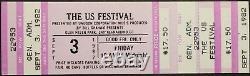Us Festival 1982 Full & Unused Concert Ticket The Ramones, Talking Heads