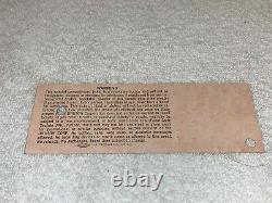 Us Festival 1983 Concert Ticket U2 David Bowie Stevie Nicks Joe Walsh Pretenders