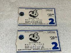 Us Festival Metal Day 1983 Concert Ticket Stubs Van Halen Motley Crue Scorpions