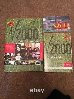 V 2000 OFFICIAL FESTIVAL PROGRAMME Ticket Info Guide PAUL WELLER/FEEDER/TRAVIS