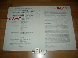VIKTOR TRETYAKOV & JOHN LUBBOCK original hand-signed FESTIVAL PROGRAM and TICKET