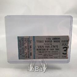 Van Halen Metallica Texxas World Music Festival Concert Ticket Stub July 3 1988