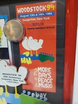 Very Rare Woodstock 1994 Music Festival VIP 10 coin, general adm. Ticket withCOA