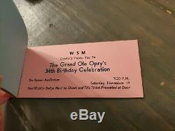 WSM'S 8TH ANNUAL NATIONAL COUNTRY MUSIC DJ FESTIVAL TICKETS 1959 Grand Ole Opry