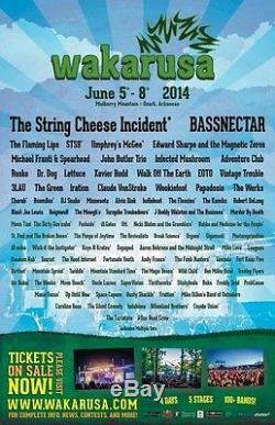 Wakarusa Music Festival Tickets 06/05/14 (Ozark)