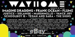 Wayhome music festival GA 3 day tickets