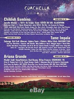 Weekend 2 ALL AREAS ARTIST GUEST Coachella Music Festival Pass Ticket Wristband