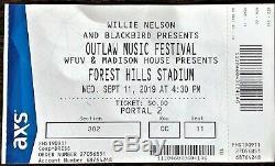 Willie Nelson Outdoor Music Festival Ticket Stub 9/11/2019 Forest Hills Stadium