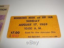 Woodstock 1969 Music Festival Ticket And Order Form Program Jimi Hendrix Joplin