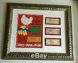 Woodstock Music Festival 1969 Full Original Ticket Collection Poster Signed