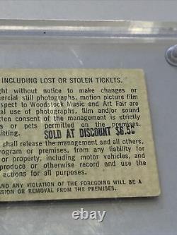 Woodstock Music Festival Tickets Black Print Saturday Sunday Discount Stamp Rare
